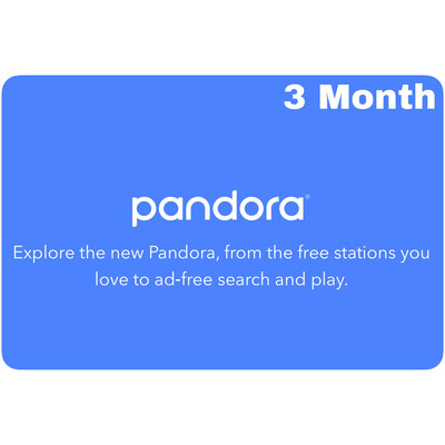 Pandora 3 Month Gift Subscription