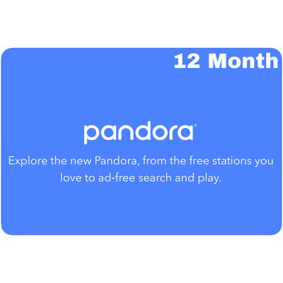 Pandora 12 Month Gift Subscription