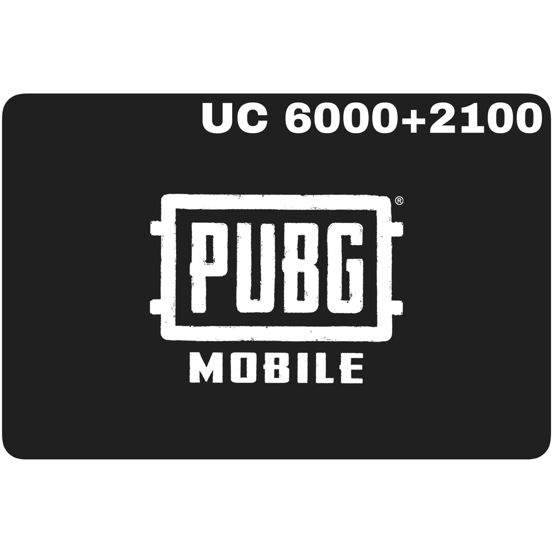 PUBG Mobile UC 6000 + 2100 (8100 UC) Redeem Code