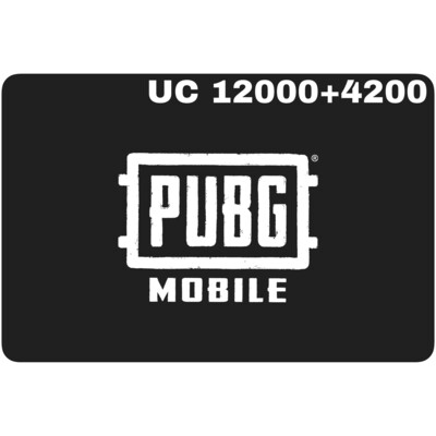 PUBG Mobile UC 12000 + 4200 (16200 UC) Redeem Code