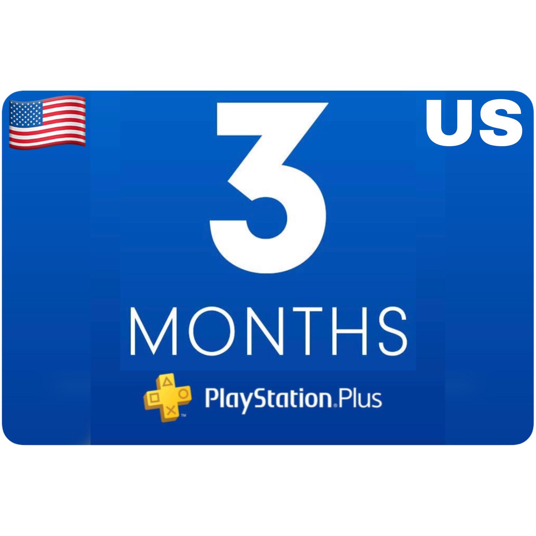 Playstation Plus Membership US 3 Month