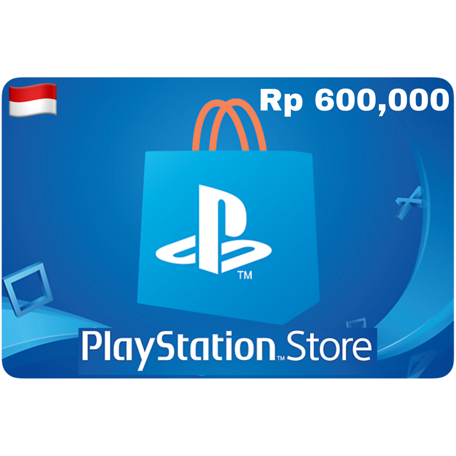 Playstation Store Gift Card Indonesia IDR 600,000