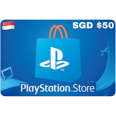 Playstation Store Gift Card Singapore SGD $50