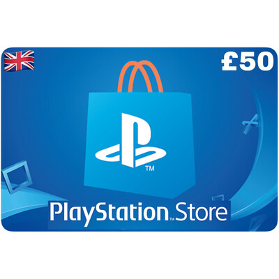 Playstation Store Gift Card UK £50