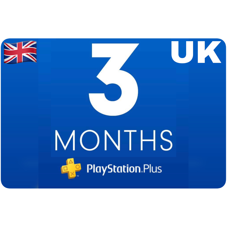 Playstation Plus Membership UK 3 Month