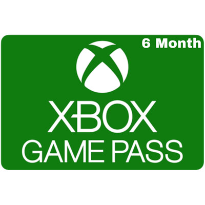 Xbox Game Pass 6 Months Membership