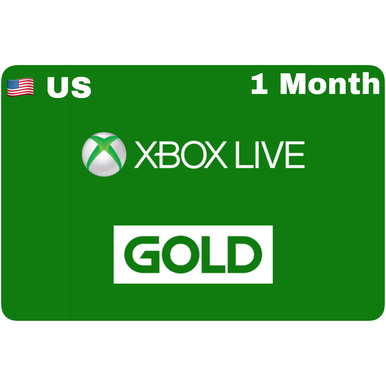 Xbox Live 1 Month Gold US