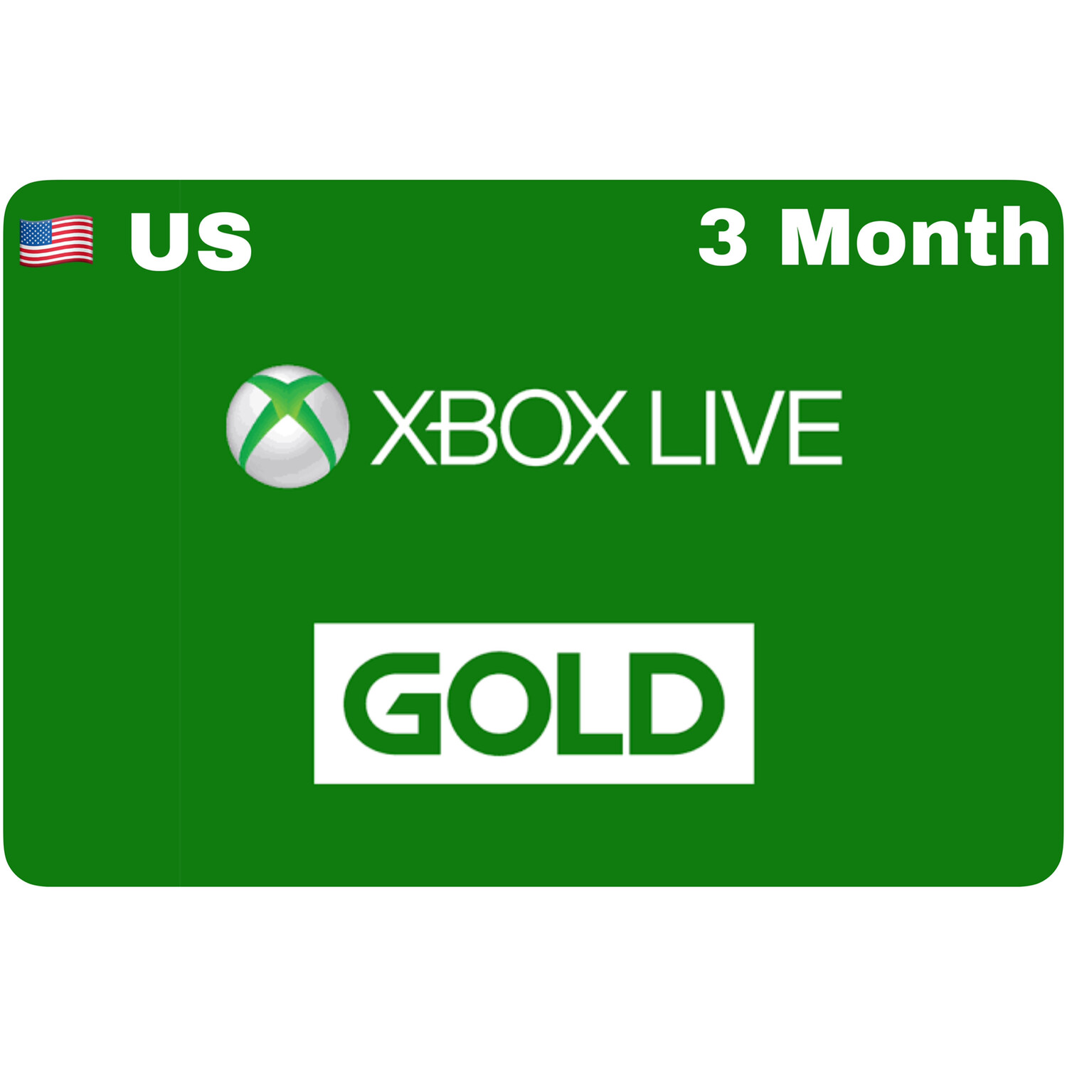 Xbox Live 3 Month Gold US