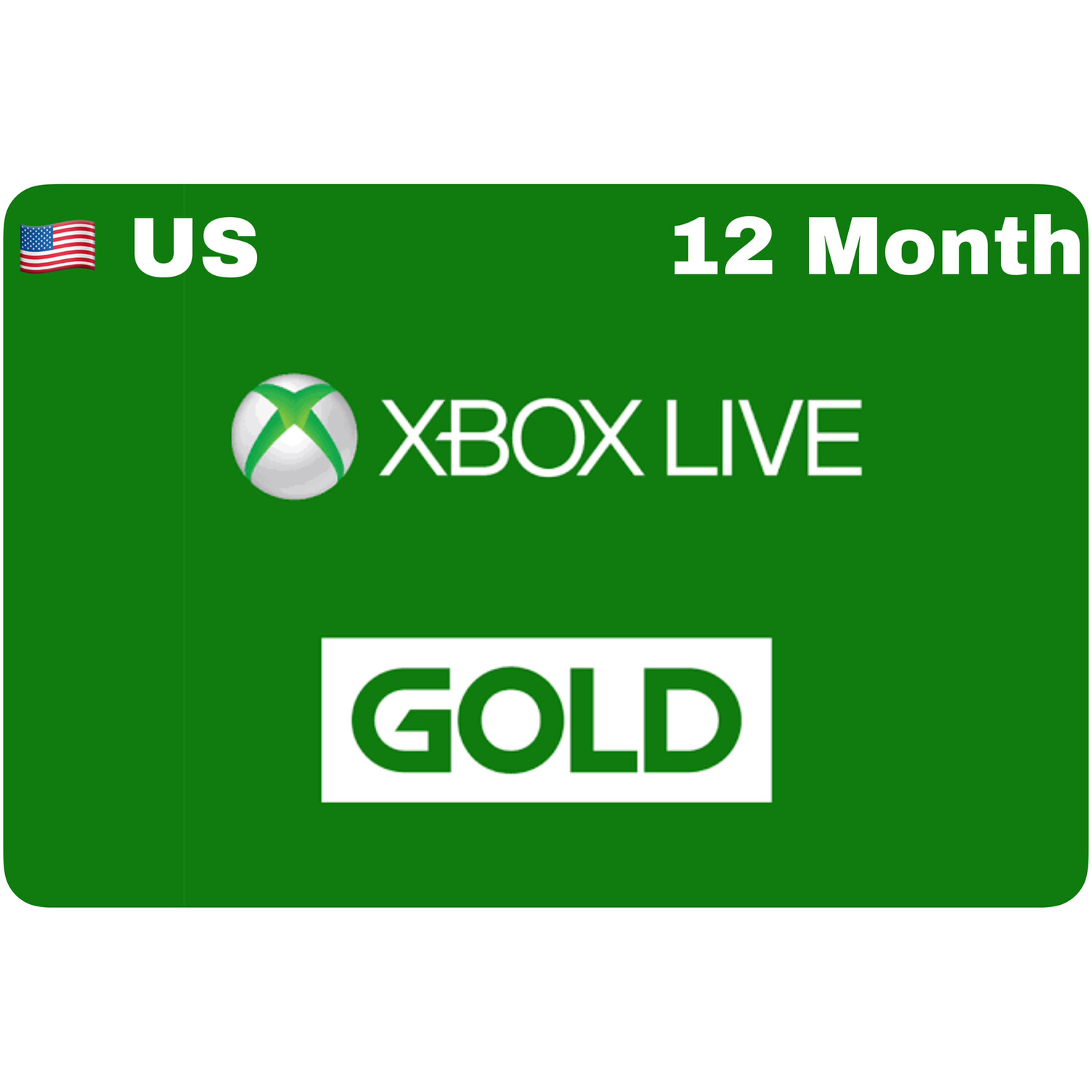 Xbox Live 12 Month Gold US