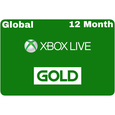 Xbox Live 12 Month Gold Card Membership (Global region)