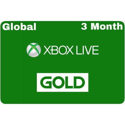 Xbox Live 3 Month Gold Card Membership (Global region)