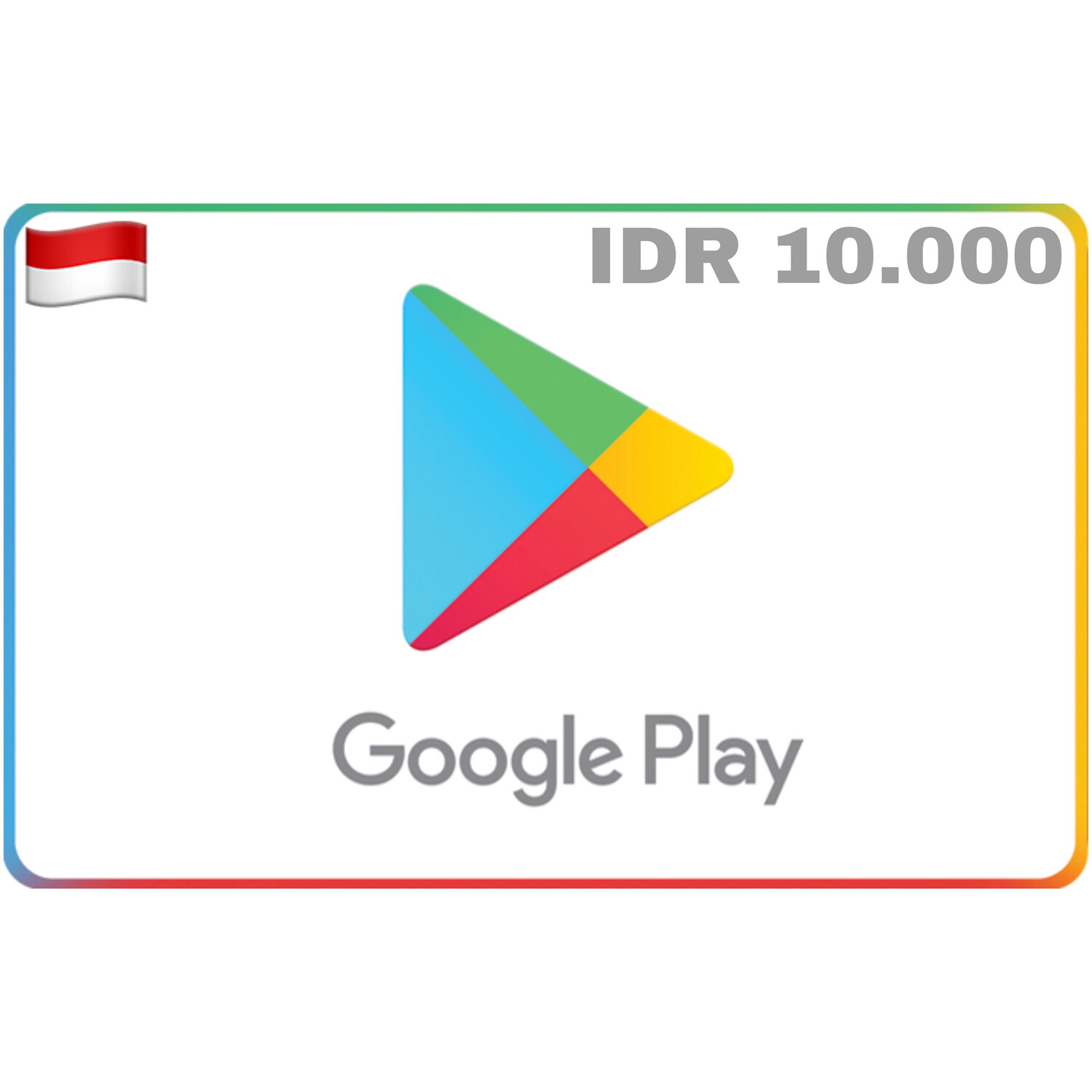 Google Play Indonesia IDR 10.000