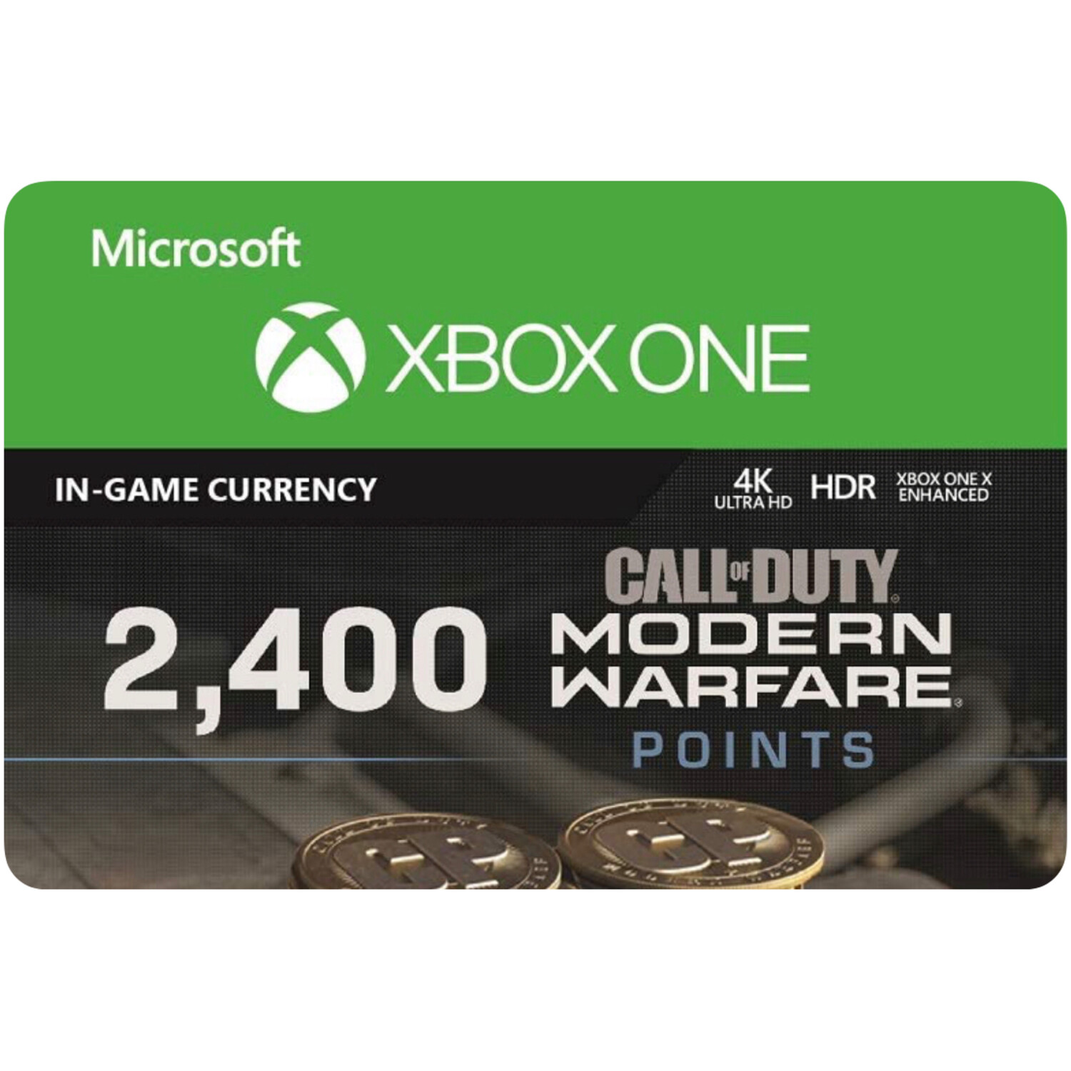 2400 Call of Duty Modern Warfare Points for Xbox US