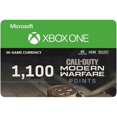 1100 Call of Duty Modern Warfare Points for Xbox US