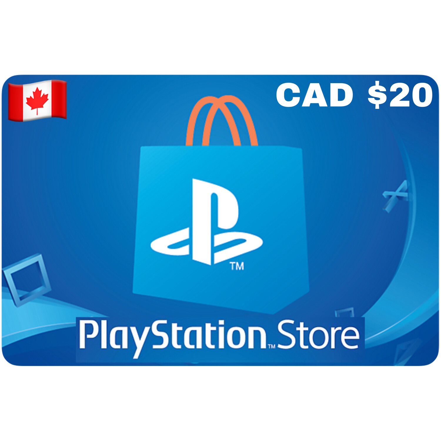 Playstation Store Gift Card Canada $20
