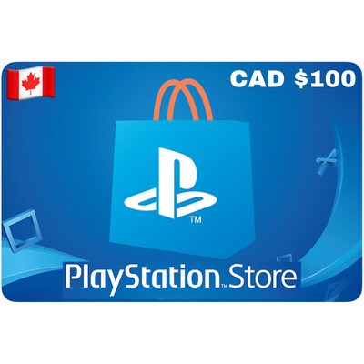 Playstation Store Gift Card Canada $100