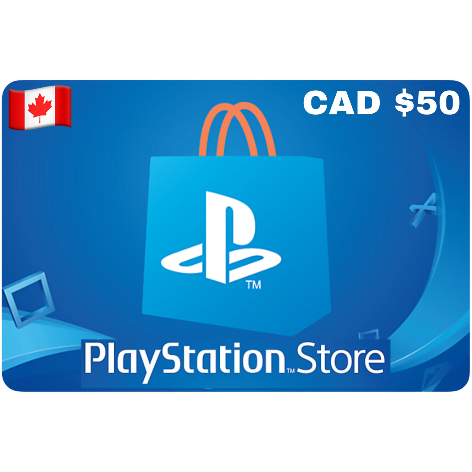 Playstation Store Gift Card Canada $50