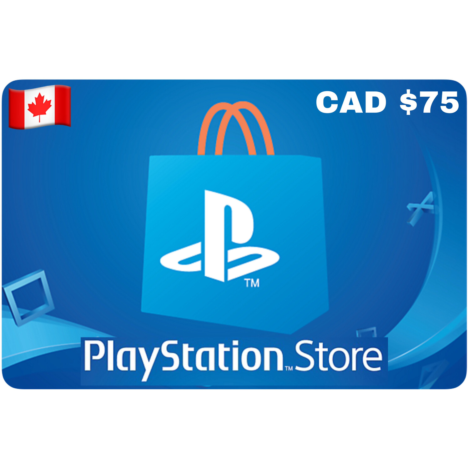 Playstation Store Gift Card Canada $75