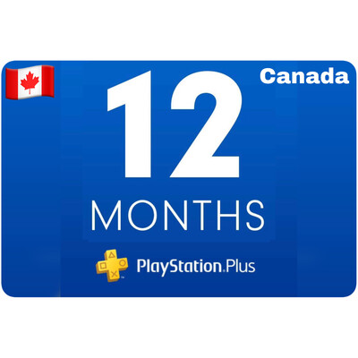 Playstation Plus Membership Canada 12 Month