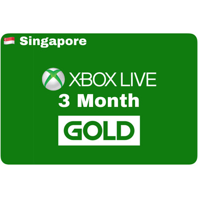 Xbox Live 3 Month Gold Singapore