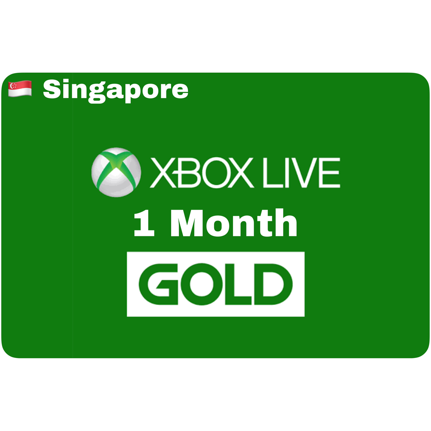 Xbox Live 1 Month Gold Singapore