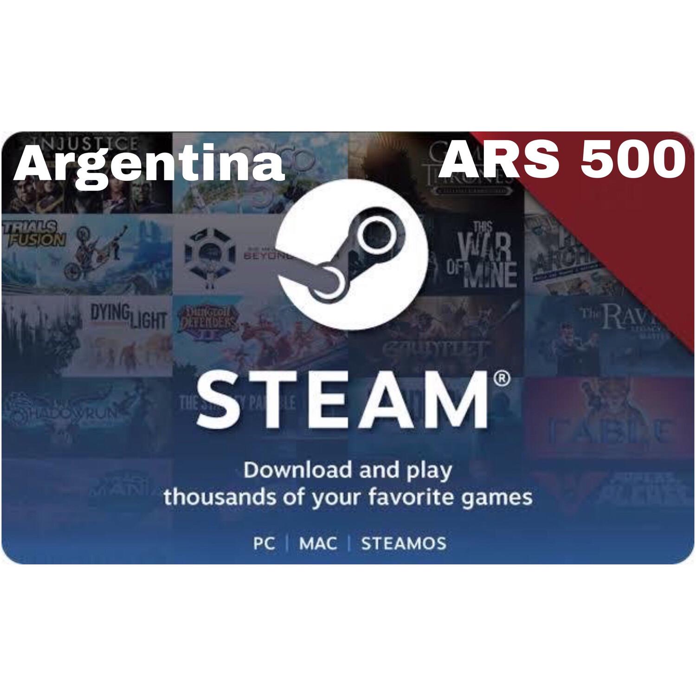 Steam Wallet Code Argentina ARS 500