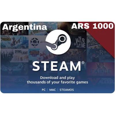 Steam Wallet Code Argentina ARS 1000