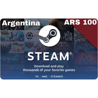 Steam Wallet Code Argentina ARS 100