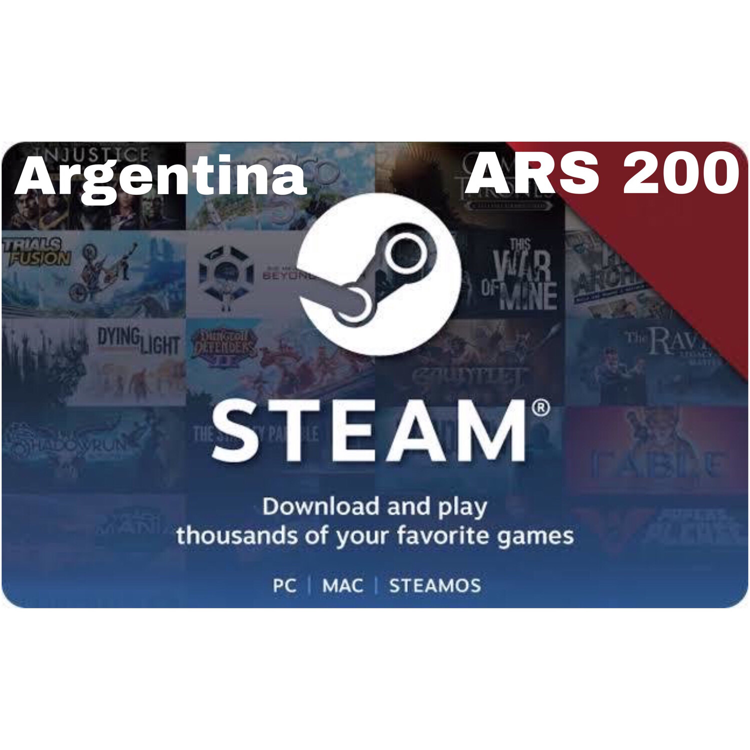 Steam Wallet Code Argentina ARS 200