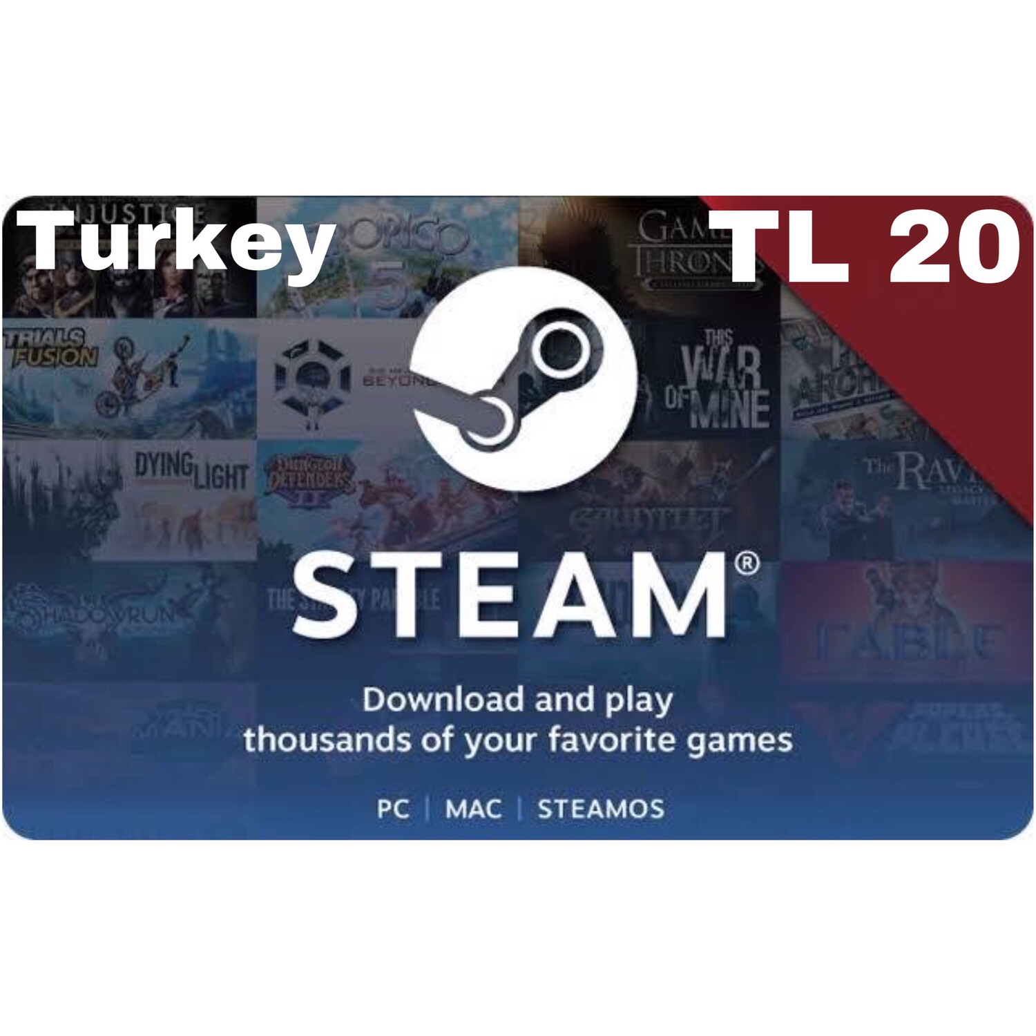 Steam Wallet Code Turkey TL 20