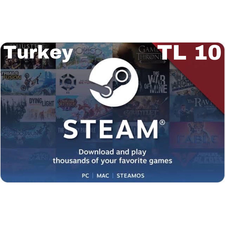 Steam Wallet Code Turkey TL 10