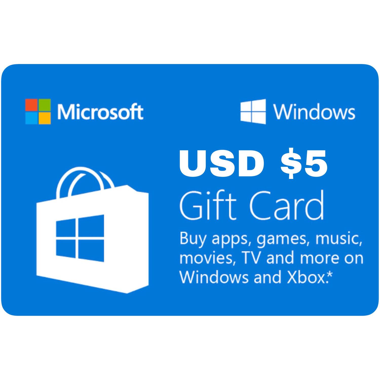 Microsoft Windows Gift Card US $5