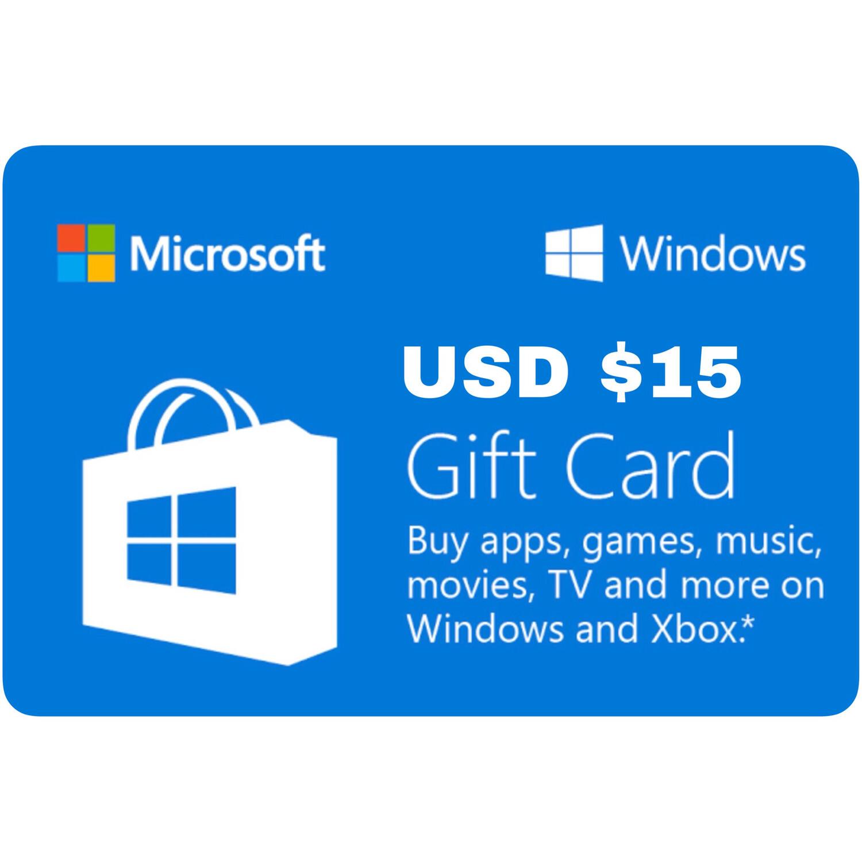 Microsoft Windows Gift Card US $15