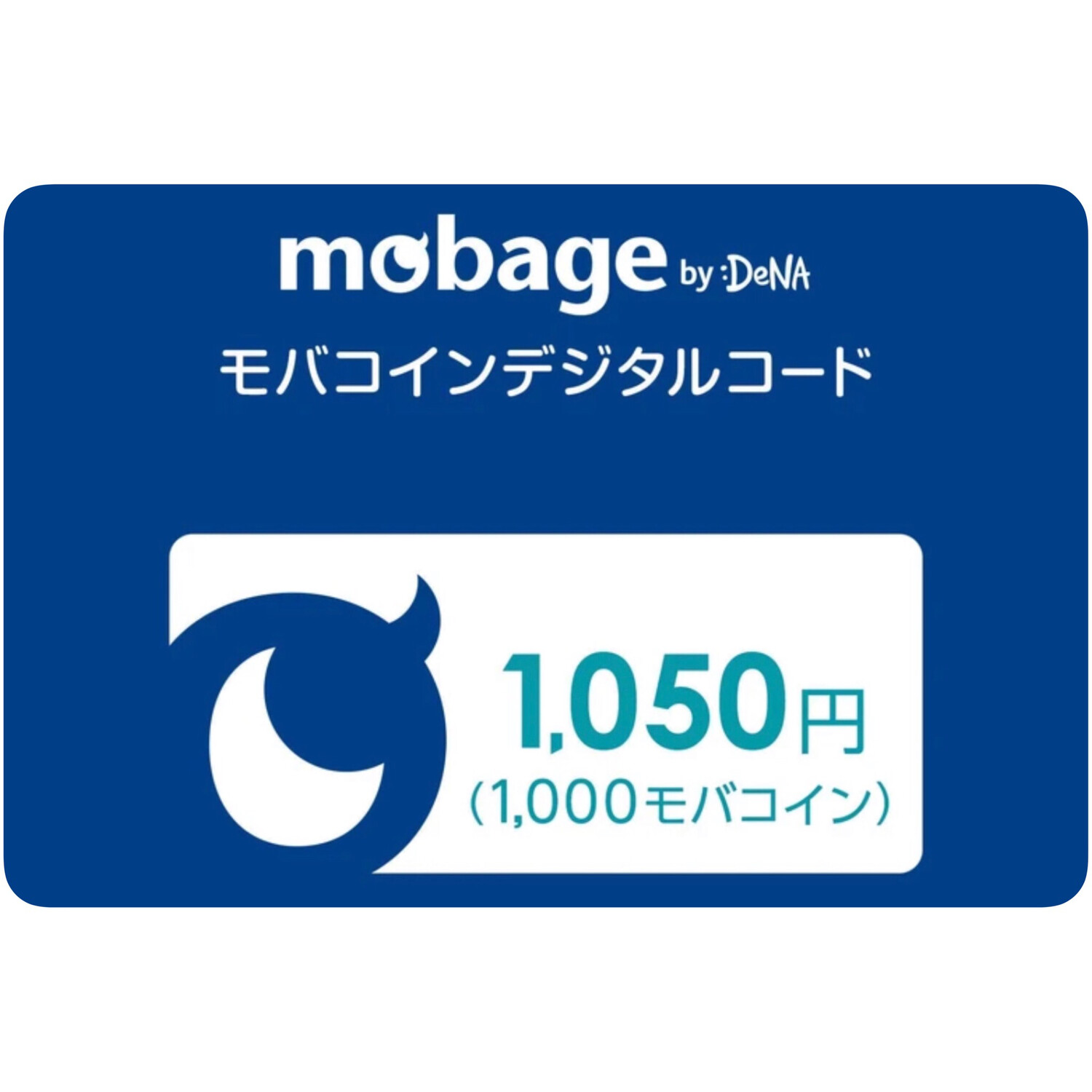 Mobage MobaCoin 1050 Japan Card