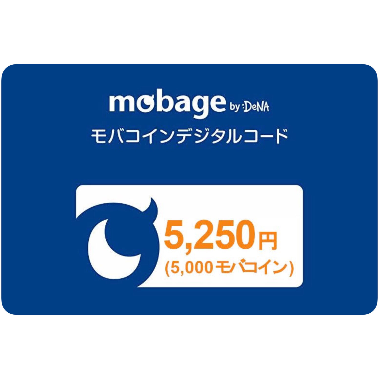 Mobage MobaCoin 5250 Japan Card