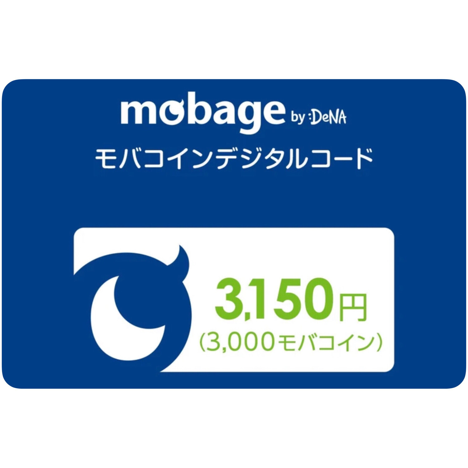 Mobage MobaCoin 3150 Japan Card