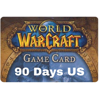 World of Warcraft 90 Day US Game Card