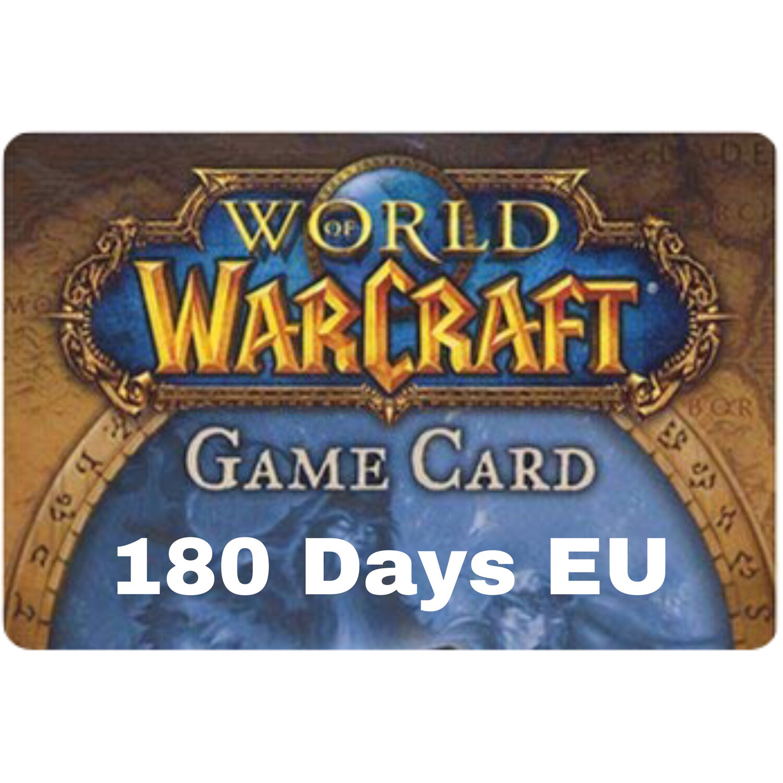 World of Warcraft 180 Day EU Game Card