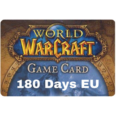 World of Warcraft 180 Day EU Game Card