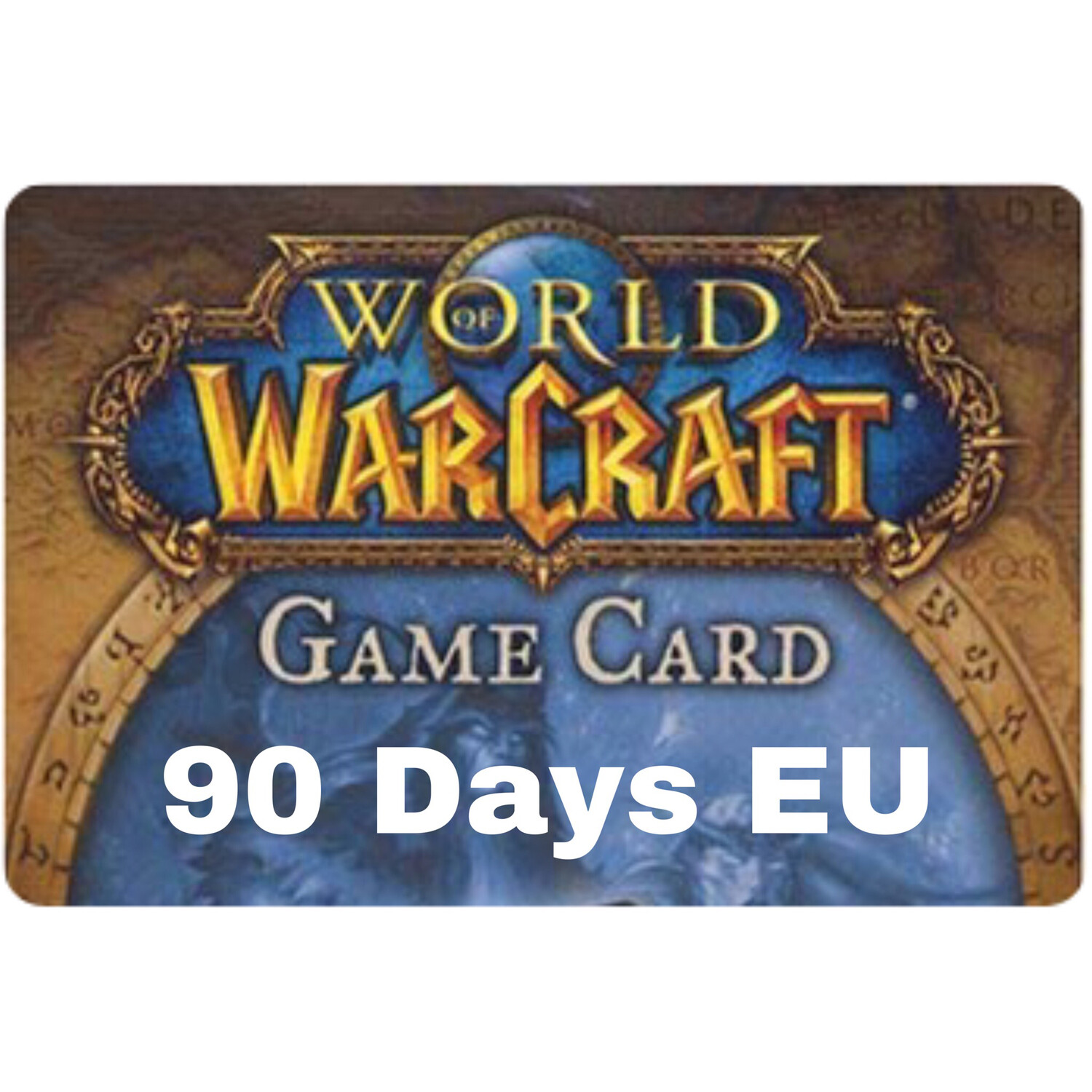 World of Warcraft 90 Day EU Game Card