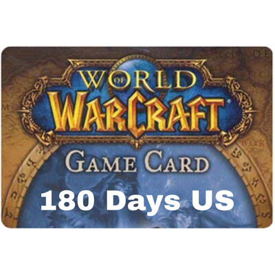 World of Warcraft 180 Day US Game Card