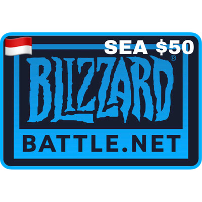 Battle.net Gift Card SEA $50 Blizzard Balance Code