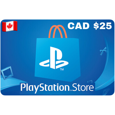 Playstation Store Gift Card Canada $25