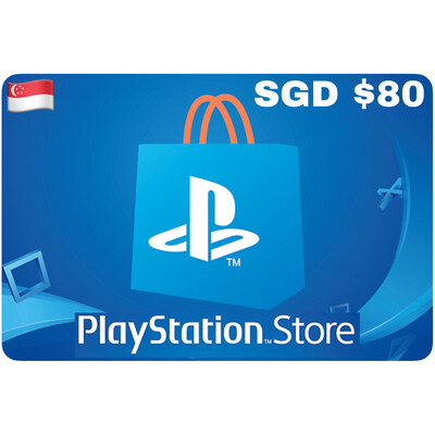 Playstation Store Gift Card Singapore SGD $80