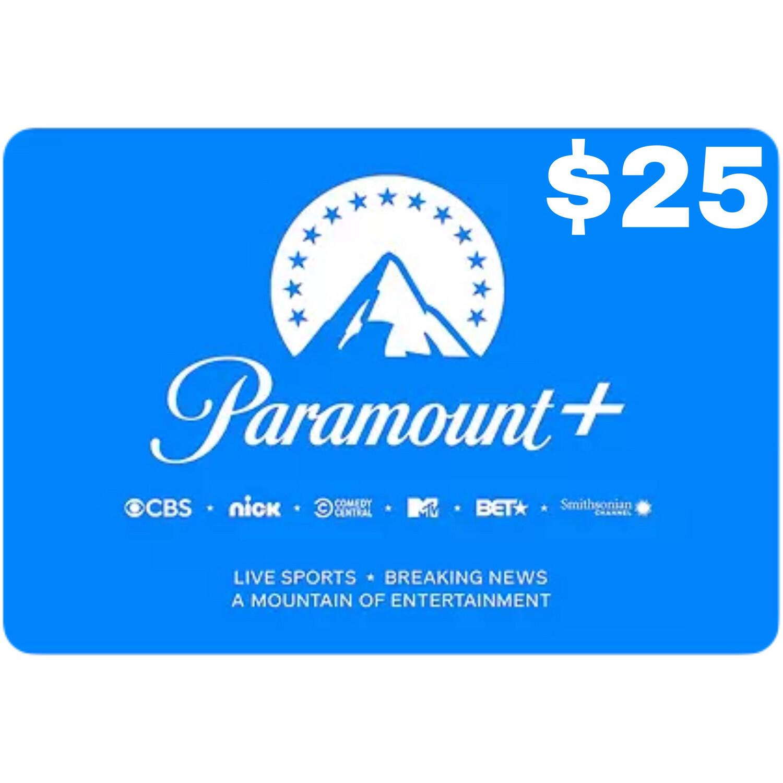 CBSi Paramount Plus $25 Gift Card