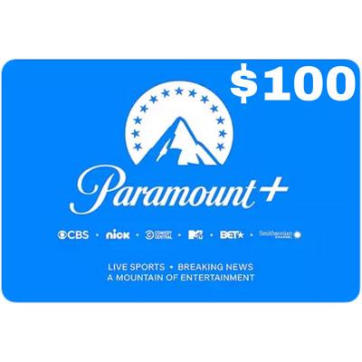 CBSi Paramount Plus $100 Gift Card