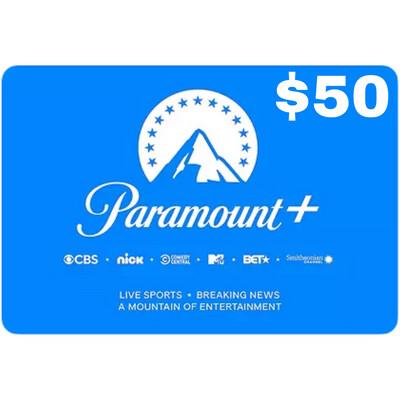 CBSi Paramount Plus $50 Gift Card