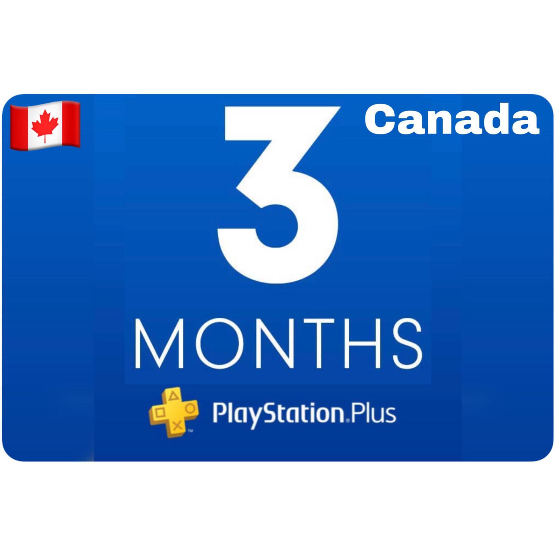 Playstation Plus Membership Canada 3 Month