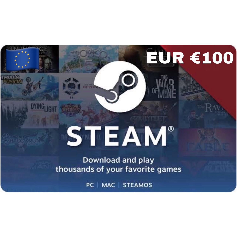 Steam Wallet Code Europe €100