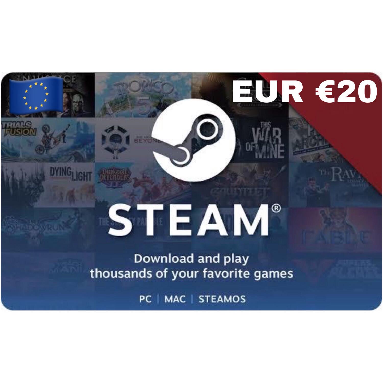 Steam Wallet Code Europe €20
